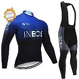 Conjunto de Maillots de Ciclismo para Invierno, Ropa de Bicicleta térmica de Equipo Profesional para Hombres