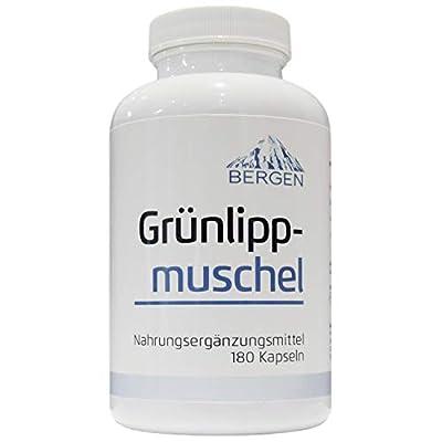 Grünlippmuschel 180 Kapseln- hoch konzentriert, Bergen, 180 Kapseln in deutscher Premiumqualität