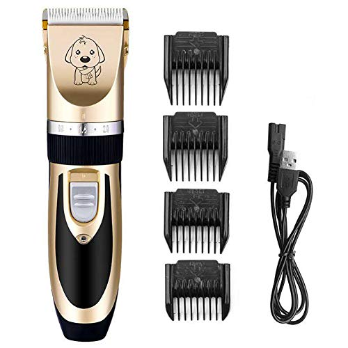 Dog Grooming Clippers, Professional Hair Clipper Set, Oplaadbare Pet Dog Cat Low-Noise Tondeuse Grooming Clippers, Voor Hond Kat Konijn