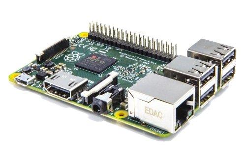 Raspberry Pi 2 Model B - Placa Base (Arm Quad-Core 900 MHz, 1 GB RAM, 4 x USB, HDMI, RJ-45)