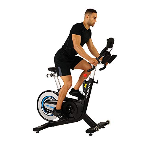 Sunny Health & Fitness 6100 Asuna Sprinter Cycle Exercise Bike - Magnetic Belt, Rear Drive, High Weight Capacity Commercial Indoor Cycling Bike
