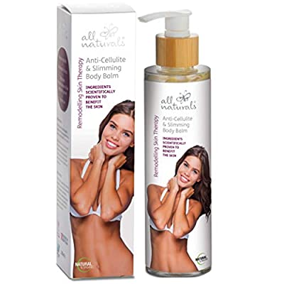 All Naturals Cellulite, Slimming Body Balm. ORGANIC, Intensive Body Shaper Accelerate Fat Loss with Caffeine, Microalgae, Herbal Extracts, Andiroba Oil, 200ml by All Naturals