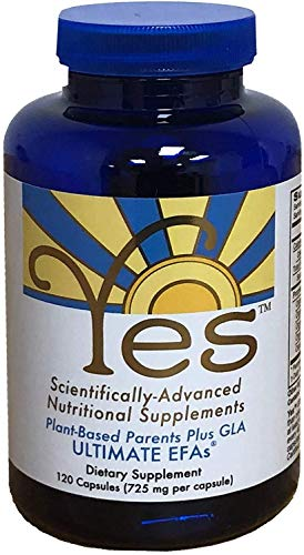 Yes Parent Essential Oils ULTIMATE EFAs 120 Capsules, Based On The Peskin Protocol, Plant Based Ingredients, Omega 3 6, Vegetarian So No Fishy Aftertaste, Keto Friendly (Reduces Carb Cravings)