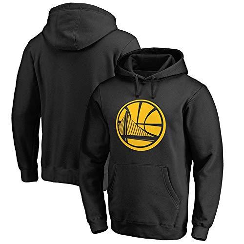 Jntm-Sports Herren Hoodies Basketball Fans Jersey Golden State Warriors Sweatshirts mit Tunnelzug mit Langen Ärmeln Lässig Bequemer Pullover S-XXXL Schwarz, M
