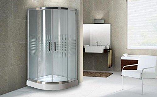 Mampara de baño 80 x 80 x 195 con plato de ducha: Amazon.es: Jardín