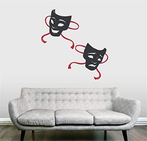 wandtattoo tribal 3d Drama Masken Maske Dance Party Dekoration Wohnkultur Wohnzimmer Kreative Aufkleber für wohnzimmer