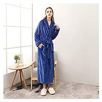 MGHN バスローブ カップルコーラルフリースバスローブ着物ローブ暖かい冬のホームパジャマ 浴衣 (Color : Women Robe 2, Size : XXX-Large)