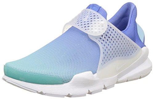 Nike Wmns Sock Dart BR, Entrenadores Mujer, Blanco (Still Blue/White/Polarized Blue), 38 EU