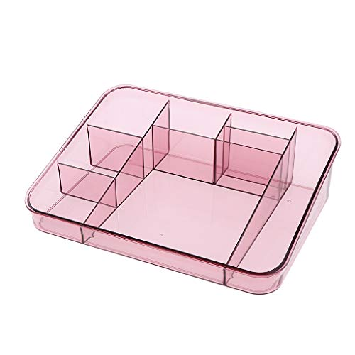 MagiDeal Kunststoff Make Up Kosmetik Lippenstifthalter Organizer Schmuck Aufbewahrungsbox, 25 X 18,5 X 7cm - Rosa