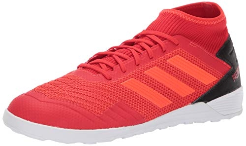 adidas Performance Men's Predator 19.3 Indoor Athletic Shoe, Active red/Solar red/Black, 11.5 M US