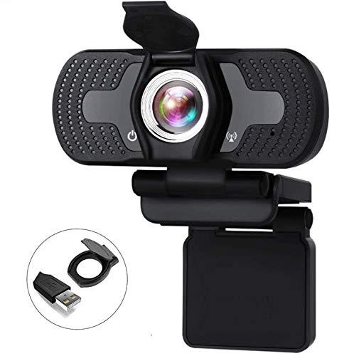 Aode Full HD Webcam 1080P PC Computer Kamera mit Mikrofon Privacy Cover USB PC Webcam PC Laptop Desktop USB 2.0 Webkamera Windows 10 Videokamera für Videoanrufe Spiele Live-Streaming und Konferenze