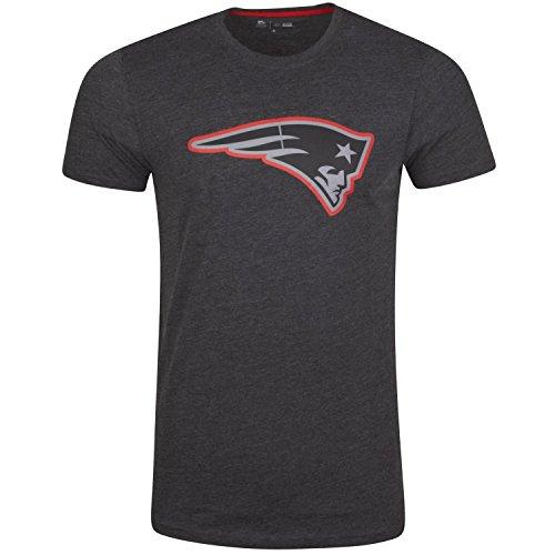 New Era New England Patriots T Shirt Two Tone Pop Tee Heather Charcoal - 4XL
