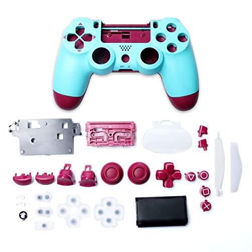 Kunststoff-Gehäuse für Game-Controller, Gehäuse mit Tasten, Ersatz-Set für Sony PlayStation 4 JDM-040 JDM-050 JDM-055, beerenblau