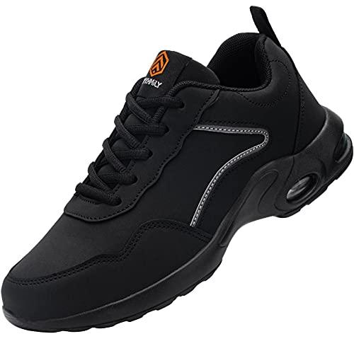 Zapatos de Seguridad Mujer Zapatillas de Seguridad Zapatos de Trabajo Calzado de Trabajo con Punta de Acero Ligeros (Negro Mate,35 EU) 🔥