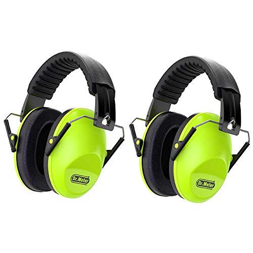 Gehörschutz Kind SNR30dB,Ohrenschützer Kinder mit für Kinder Ohrenschützer zum Schlafen, Lernen, Kinder Verstellbares Kopfband (Grün 2er Pack)