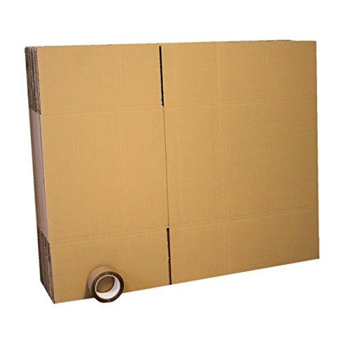 Lot de 10 cartons 60x40x40cm + adhésif