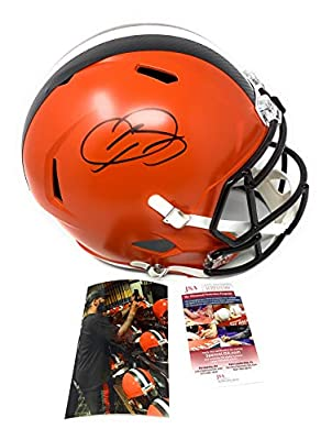 Odell Beckham Jr Cleveland Browns Signed Autograph Full Size Speed Helmet JSA Witnessed Certified