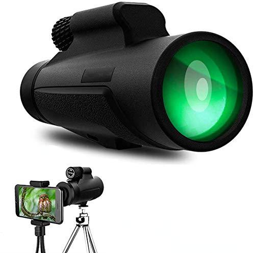 AeeYui Telescopio Monocular,12X50 BAK4 FMC Monocular Impermeable monoculo telescopio portatil,para Viajes de Caza, Juego de Pelota,observación de Aves, Acampar, Viajar