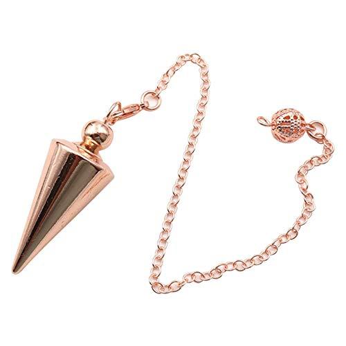 Péndulo de bronce para adivinación Péndulo de cobre Péndulo de punto espiritual Reiki Colgante...