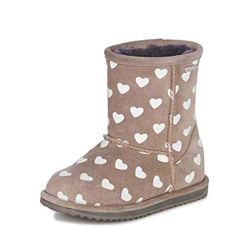 EMU Australia Kids Wallaby Sequin Deluxe Wool Boots Size 2 EMU Boots Grape