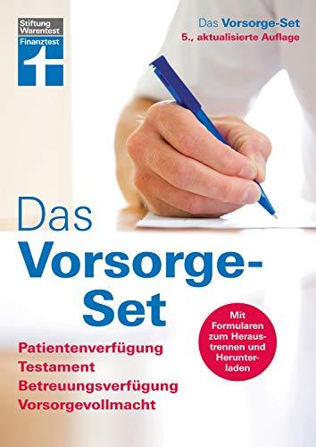 Das Vorsorge-Set: Der Ratgeber - aktualisierte Auflage 2021 - Mit Formularen und Ausfüllhilfen: Patientenverfügung, Testament, Betreuungsverfügung, Vorsorgevollmacht