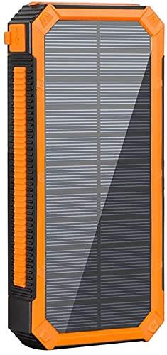 Fringe Trim 20000mah Compact Solar Power Power Bank Fast Carga Portátil Ultra De Alta Capacidad Cargador De Batería Compatible con El Teléfono 12 / 12pro / 12pro MAX / 12 Mini(Color:Naranja)