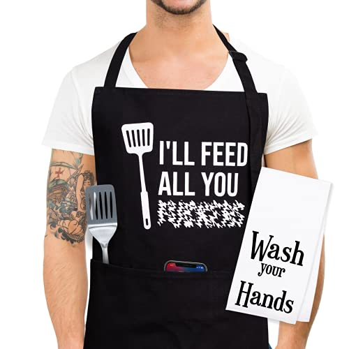 Grilling Aprons For Men Funny - Funny Anniversary For Him, Funny Cooking Apron For Men, Funny Gifts for Adults, Funny Gifts For Men, Funny Aprons for Men, Funny Dad Gifts, Gag Gifts For Adults