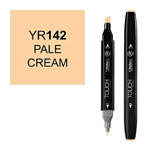 ShinHan TOUCH TWIN Art Marker Broad Chisel / Fine Bullet Tips - Pale Cream by Shin Han