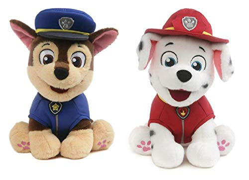 GUND Paw Patrol Plush Bundle of 2, 9 inch Chase and Marshall
