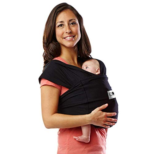 Baby K#039tan Original Baby Wrap Carrier Infant and Child Sling  Simple Wrap Holder for Babywearing  No Rings or Buckles  Carry Newborn up to 35 lbs Black Women 24 XSmall Men jacket up to 36