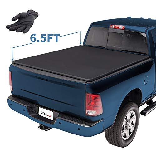 YITAMOTOR Soft Tri-fold Compatible for 2009-2018 Dodge Ram 1500 | 2019 Classic ONLY, 2003-2018 Dodge Ram 2500 3500 6.5ft Truck Bed Tonneau Cover