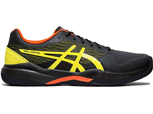ASICS Gel-Game 7 Men's Tennis Shoe, Black/Sour Yuzu, 9.5 M US