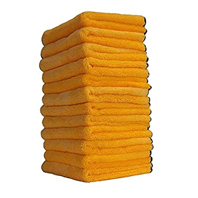 Chemical Guys MIC_506 Professional Grade Premium Microfiber Towels, Gold (16 in. x 16 in.)