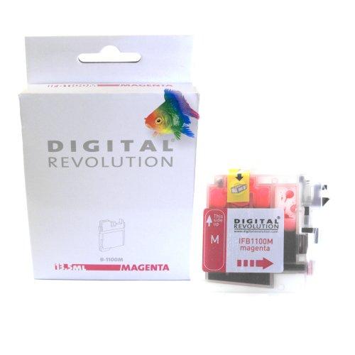 Digital Revolution Patronen Brother kompatibel mit Kamera rot Rouge - Magenta (Rot)