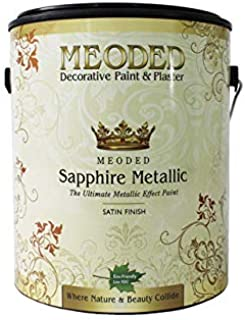 Meoded Paint and Plaster | Sapphire Metallic Paint | SM 6000 Sweet Green Metallic Wall Paint | Metal Paint | 1 Gallon