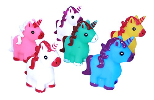 "Buy Discount Colorful 2"" Rubber Unicorn Characters - 12 Cute Unicorn Bath Toys For Young Kids And ..."