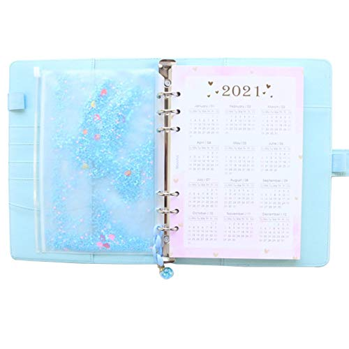 Cuaderno de escritorio en espiral para la escuela, organizador de agenda semanal, color oro rosa, A5A6