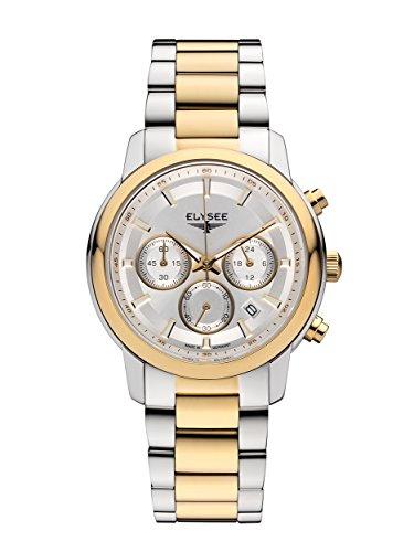 Elysee Lady Sport Damen Armbanduhr 11017 Chronograph Bicolor