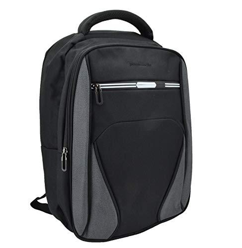 Pierre Cardin, Herrenrucksack, für Laptop-PC, Laptop-Anschluss 15,6/17 Zoll, mit USB-Anschluss, für Arbeit, Reisen und Universität Nero 3 cerniere -