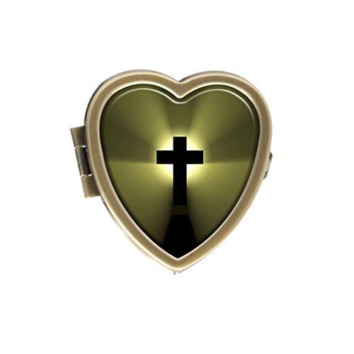 Jezus Cross Bijbel Aangepaste Unieke Liefde Hartvorm Pil doos Vitamine West Tablet Management Case Decoratie Box