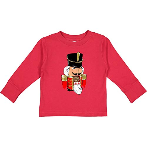 inktastic Christmas Nutcracker in Red Toddler Long Sleeve T-Shirt 4T Red 3874e