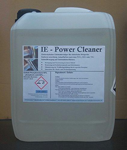 5 Liter IE-Power Cleaner Ultra Elektrolyt Edelstahl beizen WIG/TIG für Kohlefaserpinsel/Carbonpinsel für elektische Beizgeräte