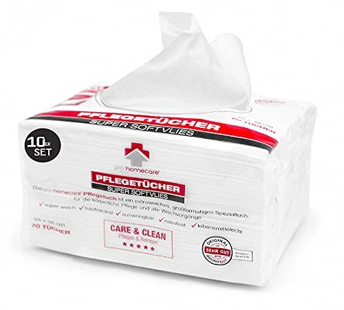 700x Pflegetücher in Premium Qualität I Super softes Einmal-Pflegetuch für empfindliche Haut I Spezialtücher für die körperliche Pflege egal ob Gesichtsreinigung Baby Pflegeset oder Abschminktücher