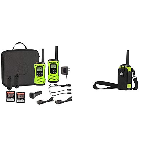 Motorola T605 Talkabout, 2 Pack Bundle Bundle with MOTDB PMLN7706AR Motorola Talkabout Two-Way Radio Carry Pouch