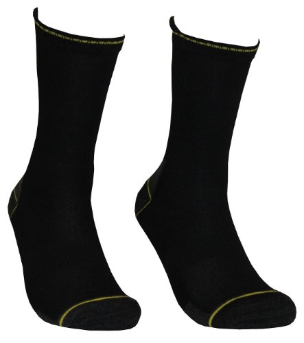 Tobeni lot de 4 paires de chaussettes pour homme avec talon et pointe eXTRA renforcés sans pression
