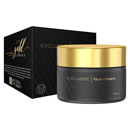 Eco Masters Exklusive Gesichtscreme - Naturkosmetik Feuchtigkeitscreme für trockene & empfindliche Haut - Mit Aloe Vera und Vitamin E hochdosiert - Anti Aging & Gegen Falten - 50ml Nachtcreme