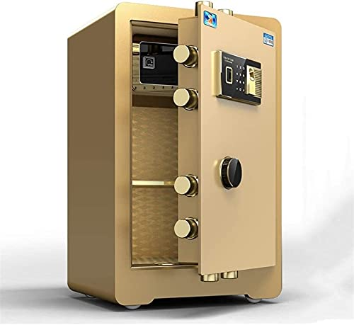 DJDLLZY Caja de Seguridad Digital de Seguridad electrónica, Acero Fuerte de hogar y Oficina, gabinete de Seguridad con Teclado for Objetos de Valor Dinero de la joyería