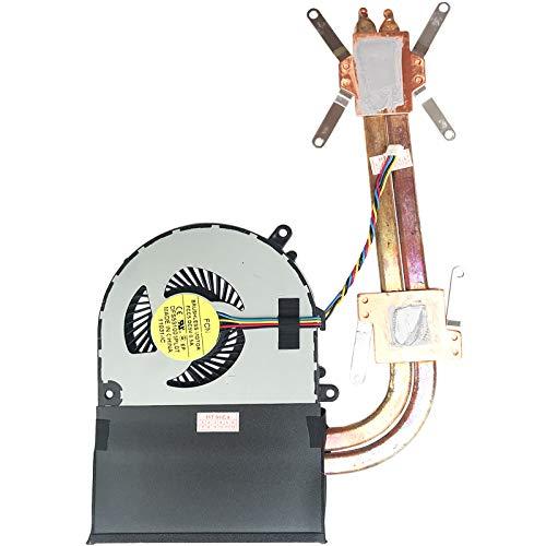 (Version 2) Lüfter Kühler Fan Cooler mit Kühlkörper kompatibel für Lenovo Ideapad G700 (59387531), Ideapad G700 (59408364), Ideapad G710 (59399734), Ideapad G700 (59369204)