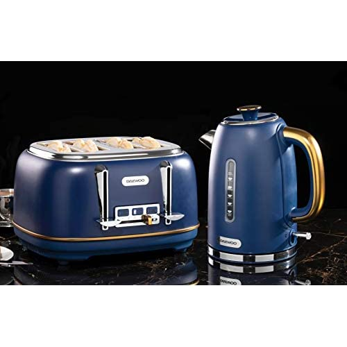 Daewoo Astoria 4 Slice Toaster 220-240 V/50-60 Hz - Navy Blue