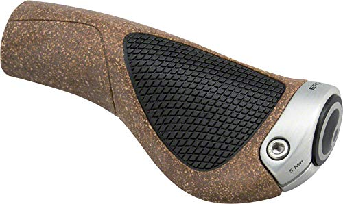 Ergon GP1-S BioKork Fahrradgriff, Brown/Black, S